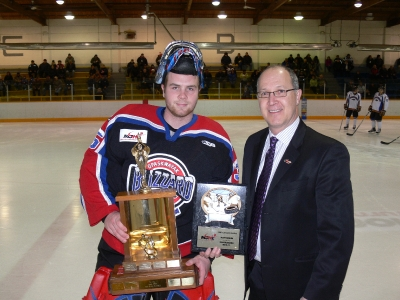 File:Matt Krahn accepting Top Goaltender award.jpg