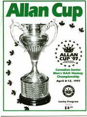1997 Allan Cup Program cover