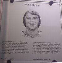 Bill Barber plaque hhof