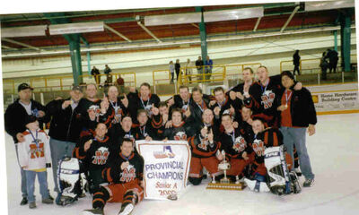 2003 Alberta Sr A champs Fort Macleod Mustangs