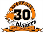 Sackville Blazers 30th logo