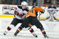 Adam Henrique, October 2nd, 10 - Albany Devils vs. Adirondack Phantoms (PreSeason) - Houston Field House