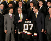 Stanley Cup Ducks and Bush