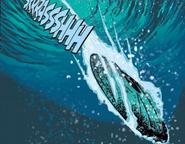 Escape saucer enters the atlantic