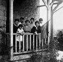 Zabel Yesayan family Armenian flag Paris 1918