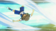 Shindou being hit Galaxy 14 HQ