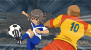 Shindou intercepting Galaxy 13 HQ