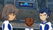 Shindou Tenma and Tsurugi shocked about the score Galaxy 1 HQ
