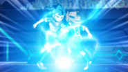 Tenma and Tsurugi clashing with each other EP39 HQ