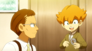 Minaho when he was younger with his father