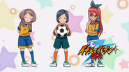 Raimon managers in Raimon uniform