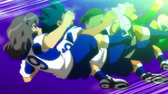 Shindou, Ichikawa, Kusaka and Ibuki as they kick the plasma canon ball
