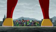 Zanak appearing in front of Raimon (CS 20 HQ)