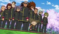 Teikoku arriving at Raimon HQ 127