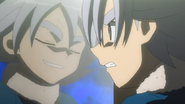 Fubuki aguring with Atsuya in the mirror