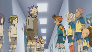 Raimon & Mikage Facing off