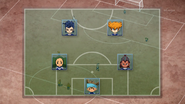Shinsuke's and Tetsukado's formation against Haniwa