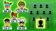 The goalkeepers options for Inazuma Best Eleven