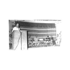 Collector speaking at Home Guards function/Dhuvaran