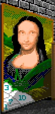 Paint-by-number Mona Lisa