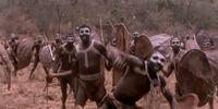 Hostile African tribe
