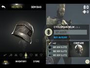 Cyclopian helm