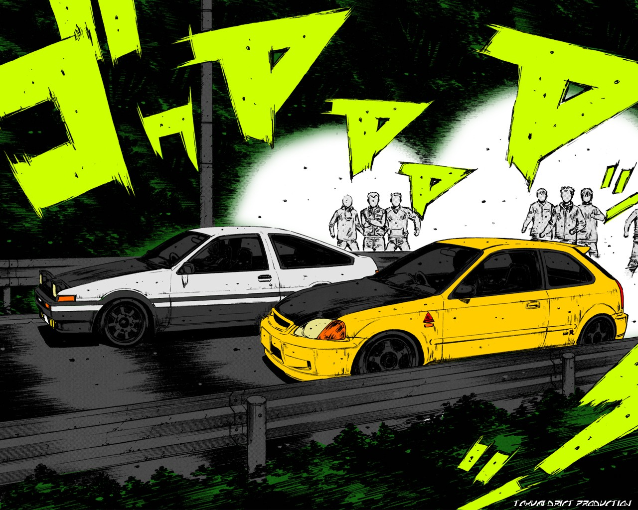 Image ae86 vs ek9 coloured manga by - Ae86 initial d wallpaper ...