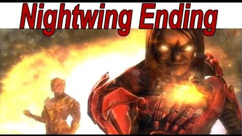 Injustice Gods Among Us - Nightwing Ending 【HD】-2