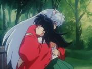 Inuyasha hugs Kagome