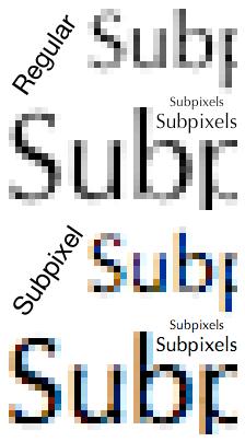 Quartz subpixels