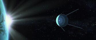 Sputnik Passing the Earth