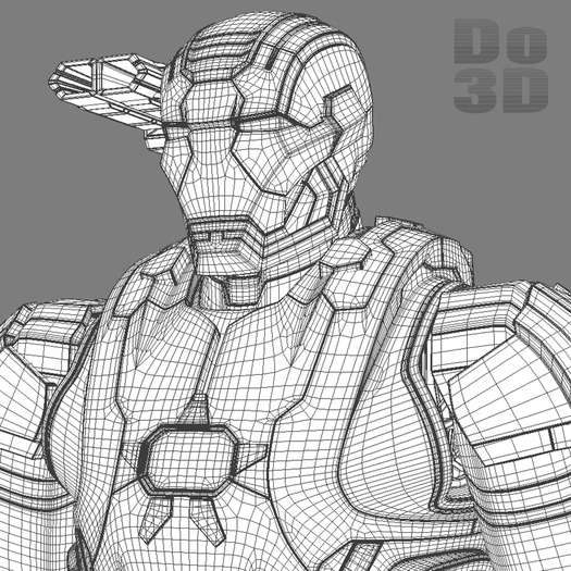 large iron man 3 suits patriot armor mark 39 gemini armor 3d model 3ds fbx