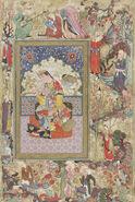 Uzbekistan, Seated Princess, by Muhammad-Sharif Musawwir, circa 1600 AD