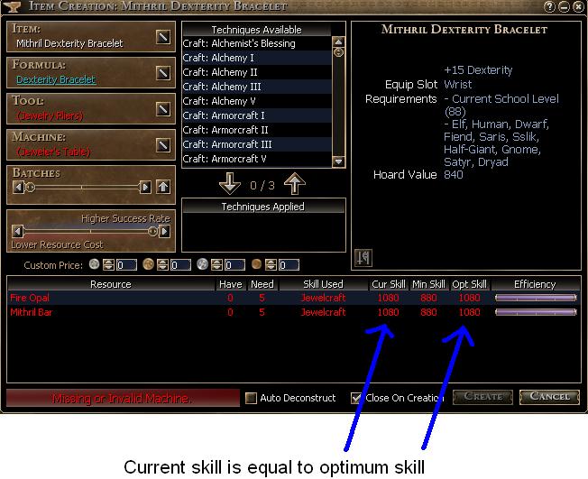 Optimum Skill
