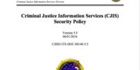 Criminal Justice Information Services Security Policy