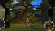 Brink Island Tym's treehouse screen