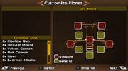 Plane customization menu
