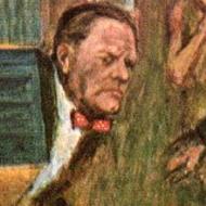 M (Literary) - illustration by Howard Mueller