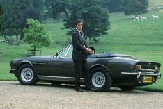 Dalton and the Aston Martin V8 Volante