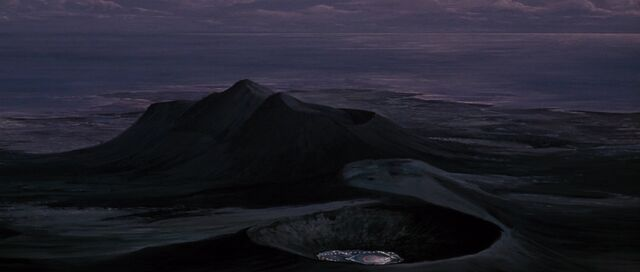 File:You Only Live Twice - The volcano's exterior at night.jpg