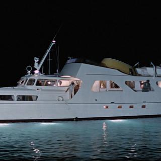 Disco Volante at night.