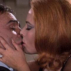 Helga kissing Bond instead of killing him