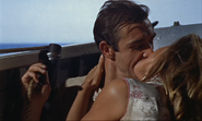 Dr. No - Bond and Honey kiss in boat