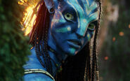 Neytiri beautiful warrior in avatar-wide