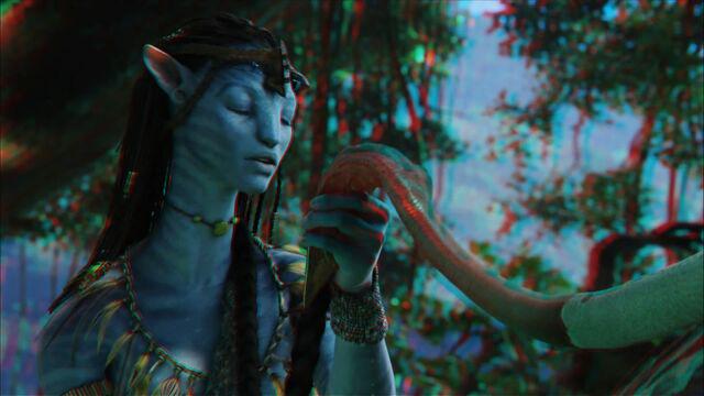 File:Neytiri making Tsahaylu with Seze (red-cyan).jpg