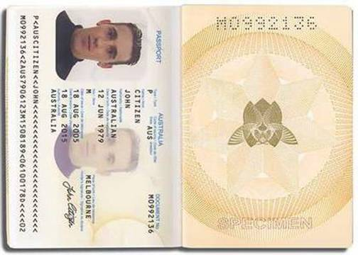 Image Australian Passport First Jpg Wikijet Fandom Powered By Wikia