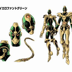 Hierophant Green's concept art for the OVA