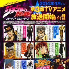 Stardust Crusaders Characters Scan