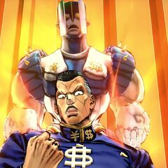 Okuyasu executing his solo DHA, <i>Eyes of Heaven</i>