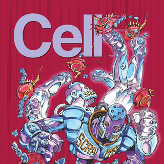 The front page of Cell (magazine) made by Araki